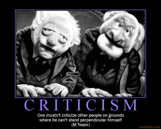 Five ways to deal with criticism, part3