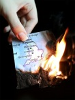 map of UK on fire