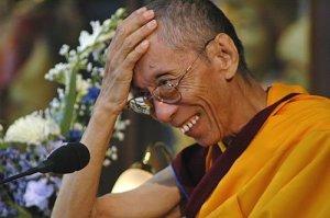 Geshe Kelsang Gyatso happy