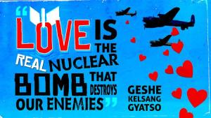 love is the nuclear bomb that destroys enemies