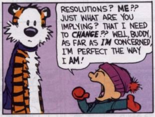 calvin and hobbes new year's resolution