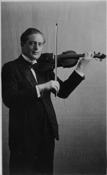 Reginal Stead MBE lead violinist BBC Northern Orchestra