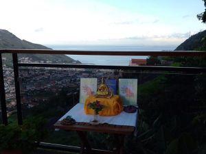 Geshe-la statue in Madeira