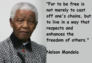 Mandela quote about freedom of others