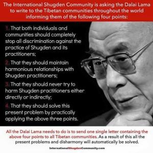 Dalai Lama points