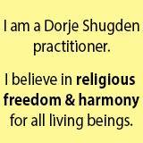 as a Dorje Shugden practitioner I believe in harmony