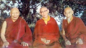 Kyabje Ling Rinpoche, Kyabje Trijang Dorjechang, Kyabje Zong Rinpoche