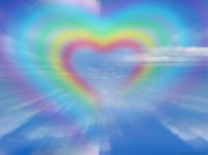 rainbow-heart in sky