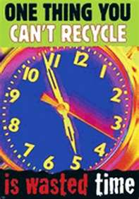 recycle wasted time