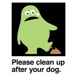 clean up after dog