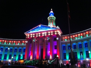 denver capitol building lit up