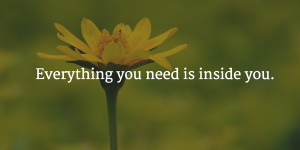 all you need is inside you