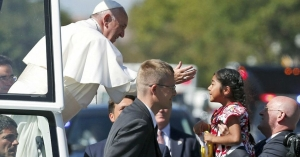 Pope and little girl