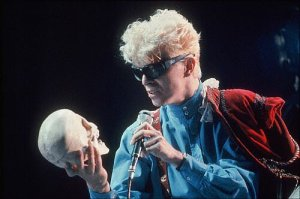 David Bowie and skull
