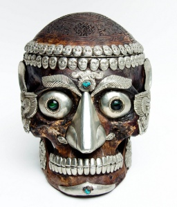 Tibetan jewelled skullcup