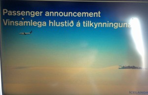 passenger announcement