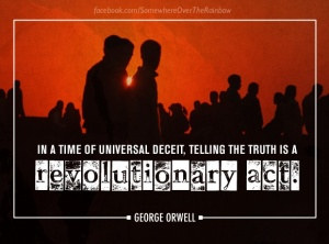 6. in a time of universal deceit