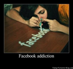 Funny facebook addiction image pics
