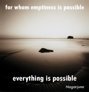 for whom emptiness is possible