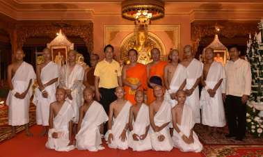 Thai boy monks