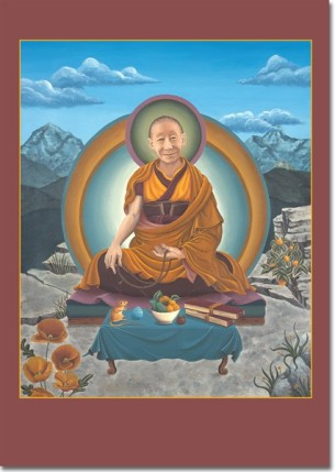 Geshe Langri Tangpa and mouse