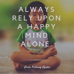 happy mind alone
