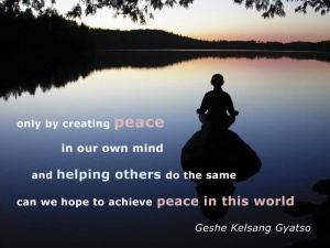 creating peace in our mind