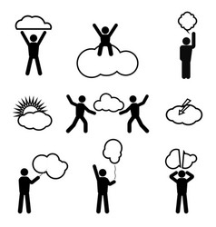 stick-figure-and-clouds-vector-14506555